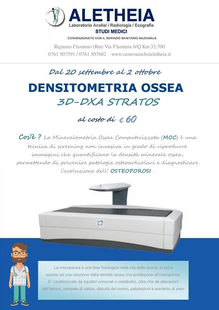 Densitometria Ossea 60€